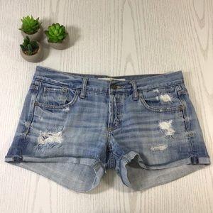 Abercrombie & Fitch | Distressed Blue Denim Shorts